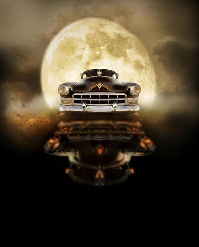 drive under moonlight