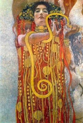 Hygea by Gustav Klimt